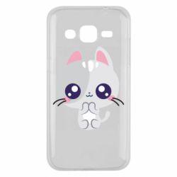 Чохол для Samsung J2 2015 Cute cat with big eyes