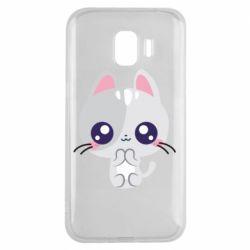 Чохол для Samsung J2 2018 Cute cat with big eyes