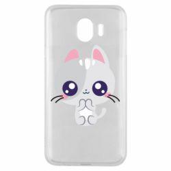 Чохол для Samsung J4 Cute cat with big eyes