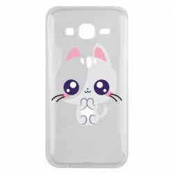 Чохол для Samsung J5 2015 Cute cat with big eyes