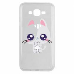 Чохол для Samsung J7 2015 Cute cat with big eyes