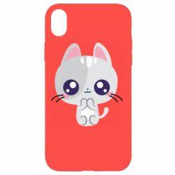 Чохол для iPhone XR Cute cat with big eyes