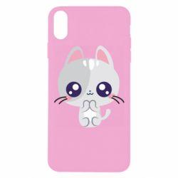 Чохол для iPhone Xs Max Cute cat with big eyes