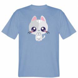 Чоловіча футболка Cute cat with big eyes