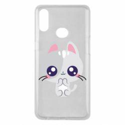 Чохол для Samsung A10s Cute cat with big eyes