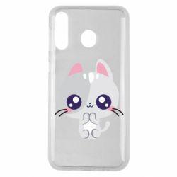 Чохол для Samsung M30 Cute cat with big eyes