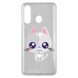 Чохол для Samsung M40 Cute cat with big eyes