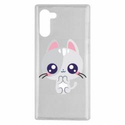 Чохол для Samsung Note 10 Cute cat with big eyes