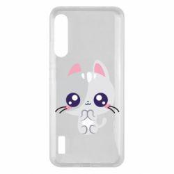 Чохол для Xiaomi Mi A3 Cute cat with big eyes