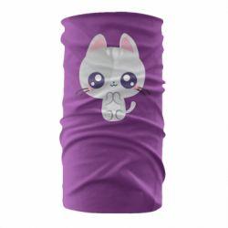 Бандана-труба Cute cat with big eyes