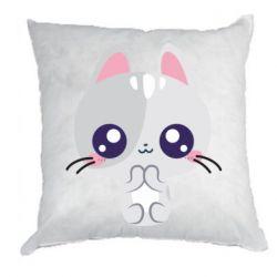 Подушка Cute cat with big eyes