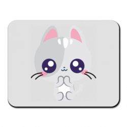 Килимок для миші Cute cat with big eyes