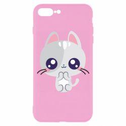 Чохол для iPhone 7 Plus Cute cat with big eyes