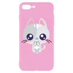 Чохол для iPhone 8 Plus Cute cat with big eyes