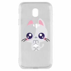 Чохол для Samsung J3 2017 Cute cat with big eyes