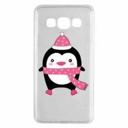 Чехол для Samsung A3 2015 Cute Christmas penguin