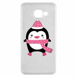 Чехол для Samsung A3 2016 Cute Christmas penguin