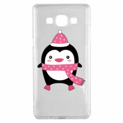 Чехол для Samsung A5 2015 Cute Christmas penguin