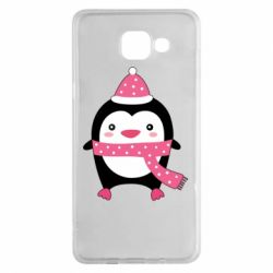 Чехол для Samsung A5 2016 Cute Christmas penguin