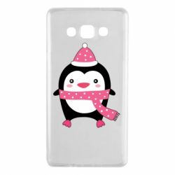 Чехол для Samsung A7 2015 Cute Christmas penguin