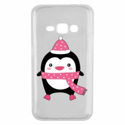 Чехол для Samsung J1 2016 Cute Christmas penguin