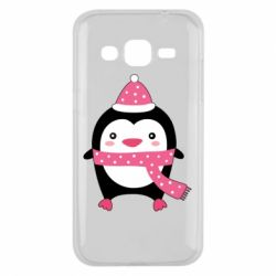 Чехол для Samsung J2 2015 Cute Christmas penguin