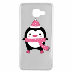 Чехол для Samsung A7 2016 Cute Christmas penguin