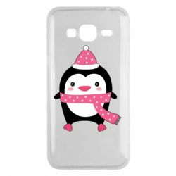 Чехол для Samsung J3 2016 Cute Christmas penguin