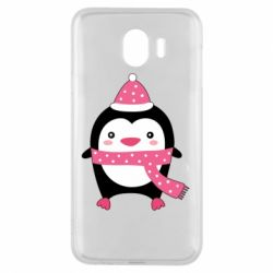 Чехол для Samsung J4 Cute Christmas penguin