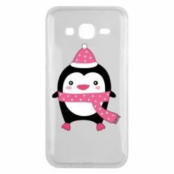 Чехол для Samsung J5 2015 Cute Christmas penguin