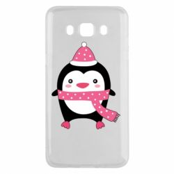 Чехол для Samsung J5 2016 Cute Christmas penguin