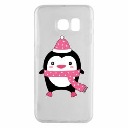 Чехол для Samsung S6 EDGE Cute Christmas penguin