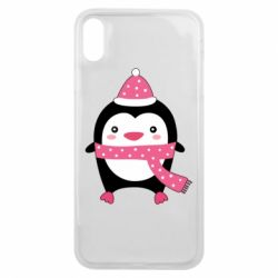 Чехол для iPhone Xs Max Cute Christmas penguin