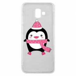 Чехол для Samsung J6 Plus 2018 Cute Christmas penguin
