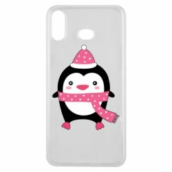 Чехол для Samsung A6s Cute Christmas penguin
