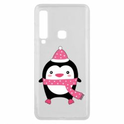 Чехол для Samsung A9 2018 Cute Christmas penguin