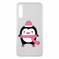 Чехол для Samsung A7 2018 Cute Christmas penguin