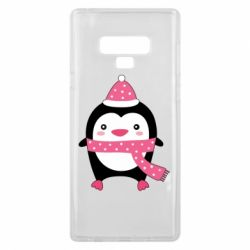 Чехол для Samsung Note 9 Cute Christmas penguin