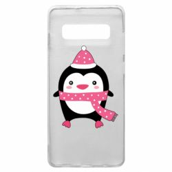 Чехол для Samsung S10+ Cute Christmas penguin