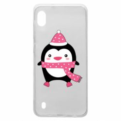 Чехол для Samsung A10 Cute Christmas penguin