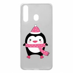 Чехол для Samsung A60 Cute Christmas penguin