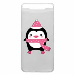 Чехол для Samsung A80 Cute Christmas penguin
