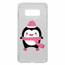 Чехол для Samsung S10e Cute Christmas penguin