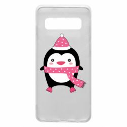Чехол для Samsung S10 Cute Christmas penguin