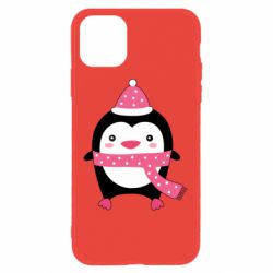 Чехол для iPhone 11 Cute Christmas penguin