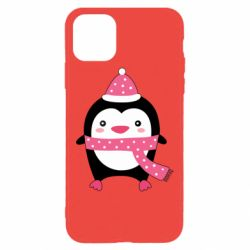 Чехол для iPhone 11 Pro Cute Christmas penguin