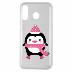 Чехол для Samsung M30 Cute Christmas penguin