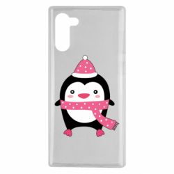 Чехол для Samsung Note 10 Cute Christmas penguin