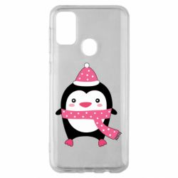 Чехол для Samsung M30s Cute Christmas penguin