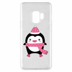 Чехол для Samsung S9 Cute Christmas penguin